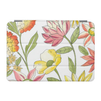 Floral Garden Design with White Background iPad Mini Cover