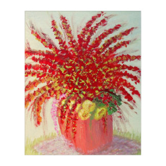 Floral Garden Display Acrylic Wall Art