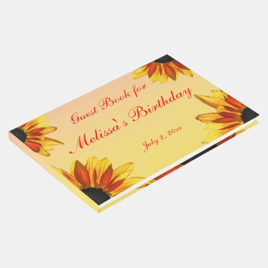 Floral Garden Flowers Birthday Party Guest Book