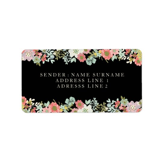 Floral Garden Wedding Return Address Labels