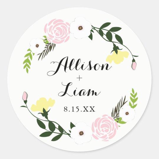 Floral Garden Wedding Sticker