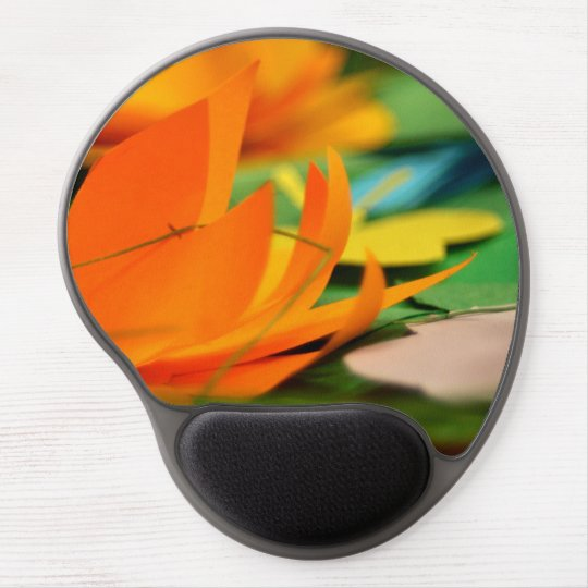 Floral gel mouse pad