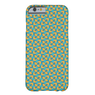 Floral geometric blue yellow, small scale barely there iPhone 6 case