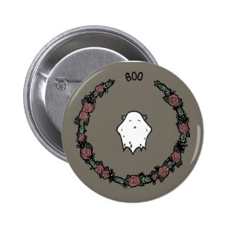 Floral Ghost 6 Cm Round Badge