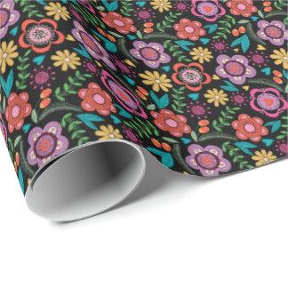 Floral Gift Wrap Go Bold Bohemian Avant-Garde