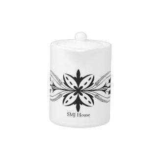 Floral Glass Tea Pot