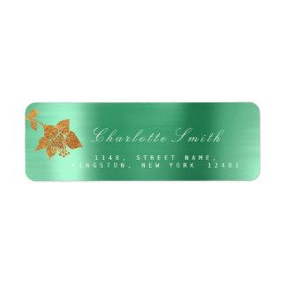 Floral Gold Foil Metallic Emerald Green RSVP