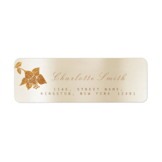 Floral Gold Foil Metallic Ivory Pearly RSVP