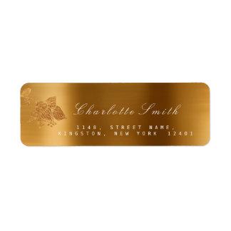 Floral Gold Foil Metallic Monochromatic RSVP