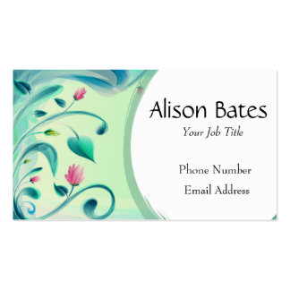 Floral Graphic Design Nature Plant Pack Of Standard Business Cards
