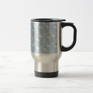 Floral Graphic Design On Blue Sky Background Coffee Mugs