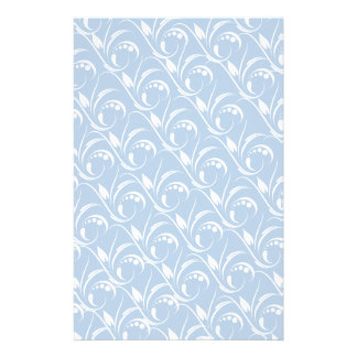 Floral Graphic Design On Blue Sky Background Stationery
