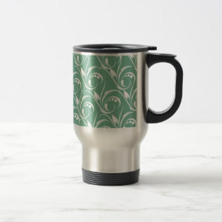 Floral Graphic Design On Spearmint Green Pattern Coffee Mug
