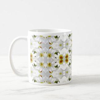 Floral Graphic Pattern Design. Basic White Mug