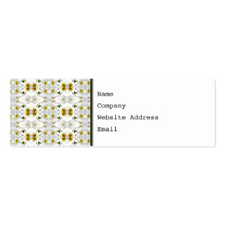 Floral Graphic Pattern Design. Pack Of Skinny Business Cards