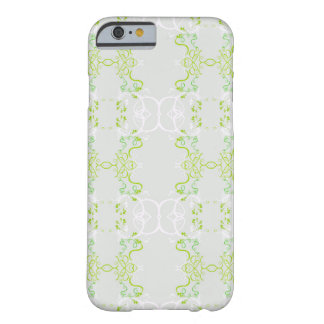 Floral green barely there iPhone 6 case