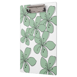 Floral Green Clipboard