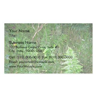 Floral green fern in grass business card templates