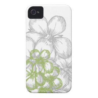 floral green gray iPhone 4 cases