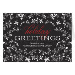 Floral Greetings Business Holiday Greeting Card