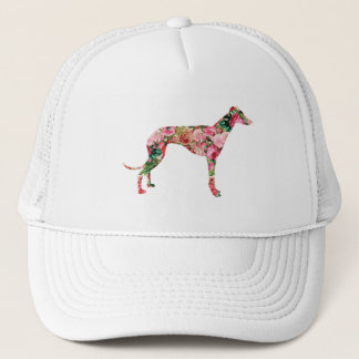 Floral Greyhound Cap