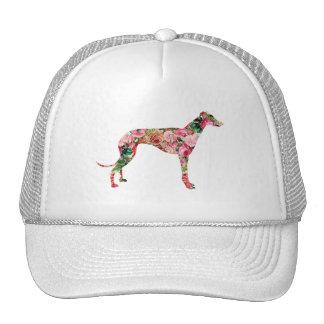 Floral Greyhound Cap