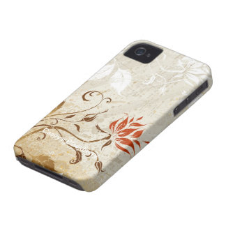 Floral Grunge Design iPhone 4 Cover
