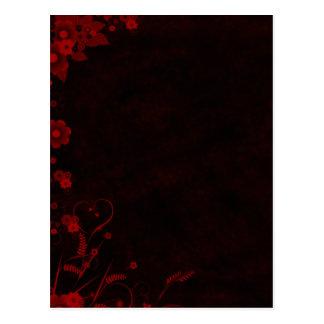 Floral - Grunge Design Postcard