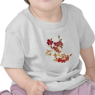 floral grunge design tee shirts