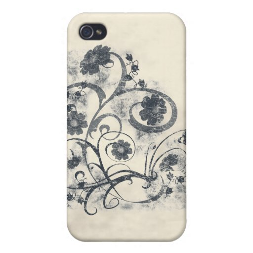 Floral Grunge Cover For iPhone 4