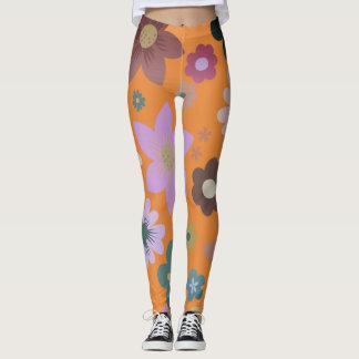 Floral grunge leggings
