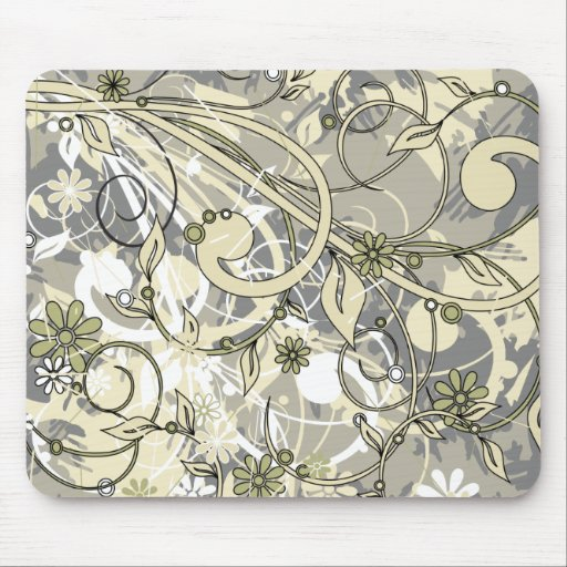 floral grunge mouse pads