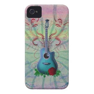 Floral Guitar iPhone 4 Case-Mate Case