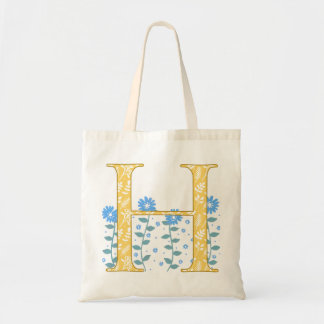 Floral 'H' Monogram Tote Bag