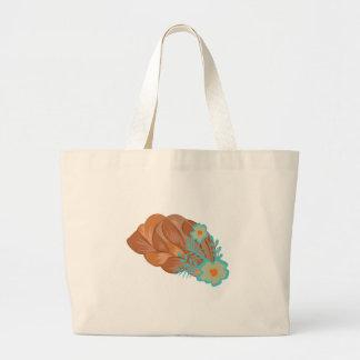 Floral Hair Braid Jumbo Tote Bag