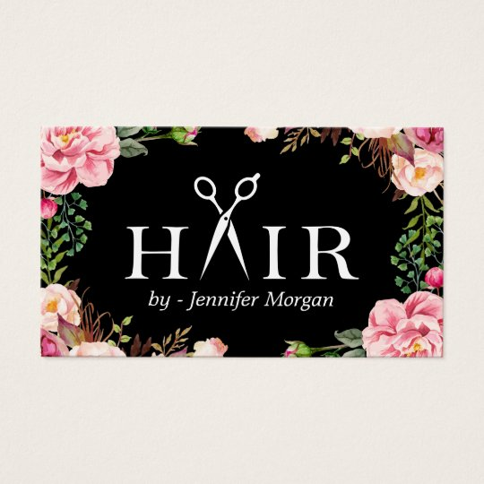 Floral Hair Stylist Logo Beauty Salon Appointment Business