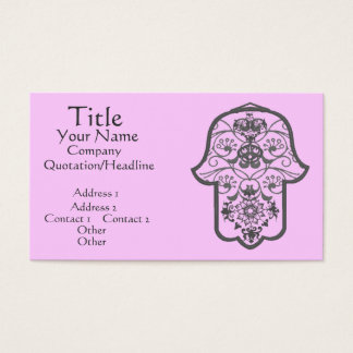 Floral Hamsa Business Card
