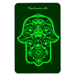 Floral Hamsa Green Magnets