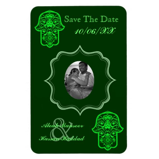 Floral Hamsa (Green) (Save The Date) Vinyl Magnet
