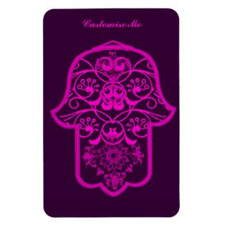Floral Hamsa Pink Vinyl Magnet