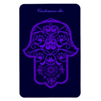 Floral Hamsa (Purple) Rectangular Photo Magnet