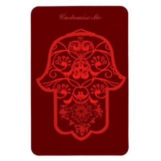 Floral Hamsa Red Magnet