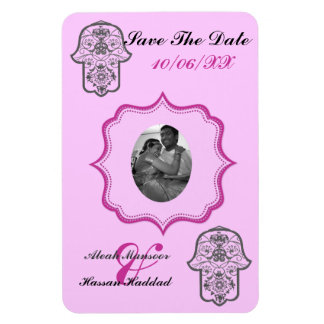 Floral Hamsa (Save The Date) Rectangular Photo Magnet