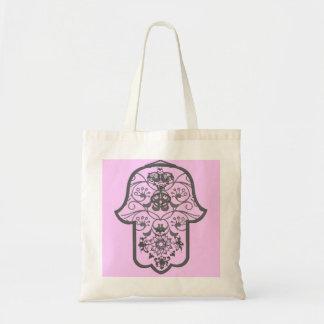 Floral Hamsa Tote Bag