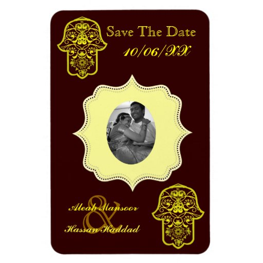 Floral Hamsa (Yellow) (Save The Date) Vinyl Magnet
