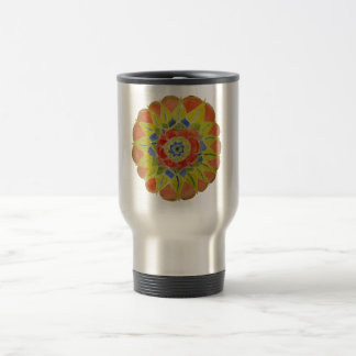 Floral handpainted mandala Stainless Steel  Mug