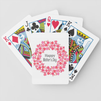 Floral Happy Mothers Day Bicycle Playing Cards