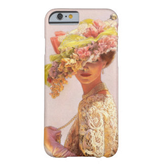 Floral Hat Victorian Fashion Lady iPhone 6 case