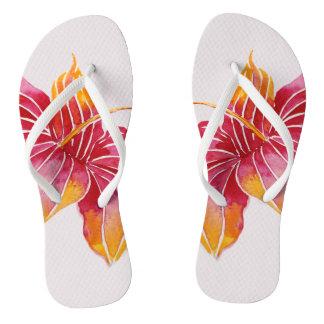 Floral Hawaii Flip Flops
