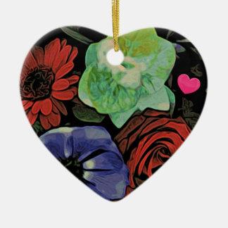 Floral Heart Bouquet Ornament